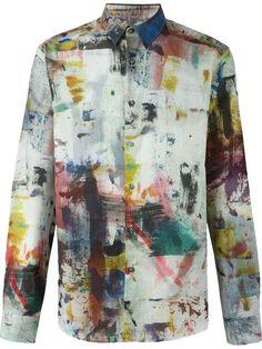 Paul Smith painterly print shirt