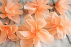 tissue paper garland. Pretty!