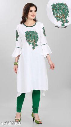 Kurtis & Kurtas Women's Printed White Cotton Kurti Fabric: Cotton Sleeve Length: Three-Quarter Sleeves Pattern: Solid Combo of: Single Sizes: XL (Bust Size: 42 in Size Length: 52 in)  L (Bust Size: 40 in Size Length: 52 in)  M (Bust Size: 38 in Size Length: 52 in) Country of Origin: India Sizes Available: M, L, XL, XXL   Catalog Rating: ★4 (444)  Catalog Name: Free Mask Trendy Pretty Kurtis CatalogID_716352 C74-SC1001 Code: 443-4897970-138