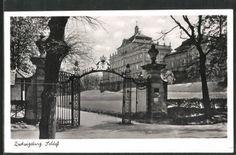 Alte Ansichtskarte: AK Ludwigsburg, Schloss und Schlosstor