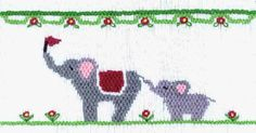 """CEC- """"Elephants on Parade"""" Smocking Plate by Crosseyed Cricket"""