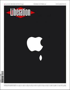 Ilustración para la portada del francés Liberation sobre la muerte de Steve Jobs