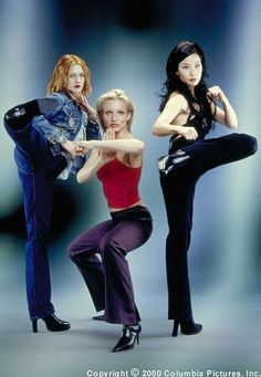 Charlie's Angels the movie.  Cameron Diaz, Lucy Lu, and Drew Barrymore