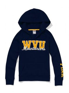 West Virginia University Split Neck Hoodie - Victoria's Secret PINK® - Victoria's Secret