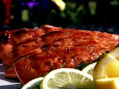 Triple citrus glazed grilled salmon...INCREDIBLE!  I have made this personally and it's absolutely delicious! A five + star recipe!!!