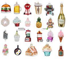 Christbaumschmuck Essen Trinken Glas Anhänger Weihnachtsbaumschmuck Figuren | eBay