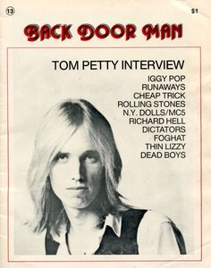 Raised on promises. Tom Petty Music, Cheap Trick, Thin Lizzy, Iggy Pop, Rolling Stones, Toms, Mazda, Singers, Traveling
