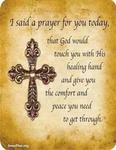Prayer for Healing Quotes | Prayers for sick loved ones