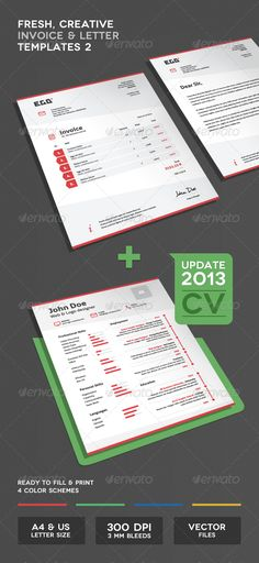 invoice & letter templates | sexy, fonts and colors, Invoice templates