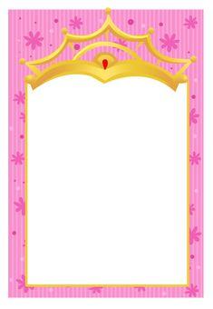 Invitaciones De Una Pequeña Princesa Para Imprimir