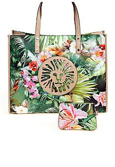 AK Anne Klein Beach Comber Tote looks perfect to carry A GOOD EXCUSE TO BE BAD in, because of the green color that matches the cover.
