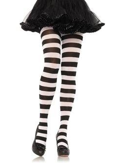 Striped Tights, Black Tights, Famous Brand Shoes, Relaxed Outfit, Opaque Tights, Fishnet Stockings, Wide Stripes, Leg Avenue, Girl Costumes