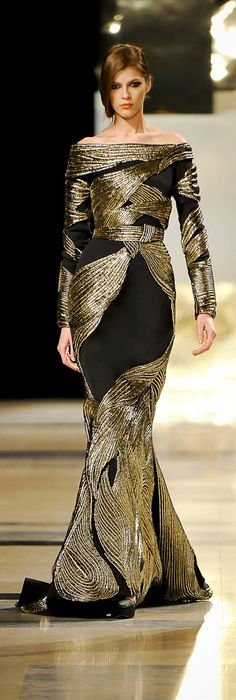 Gold and black evening gown - Stéphane Rolland 2011 Haute Couture Paris