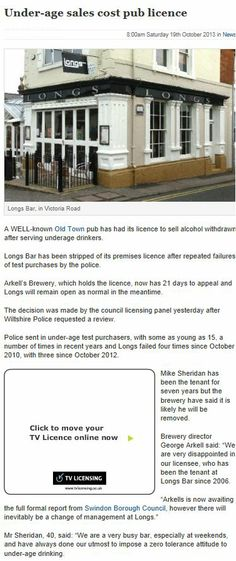 Bromley council review the licenses of three premises who fail test - training report