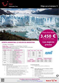 ¡Los mejores precios! Oferta ARGENTINA: Lo mejor de Argentina. Precio final desde 3.450€ ultimo minuto - http://zocotours.com/los-mejores-precios-oferta-argentina-lo-mejor-de-argentina-precio-final-desde-3-450e-ultimo-minuto/
