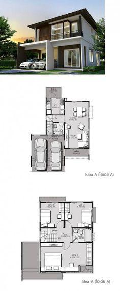 House Decor Simple Floor Plans 60 Ideas For 2019 Dream House Plans, Modern House Plans, Small House Plans, Modern House Design, House Floor Plans, Floor Plans 2 Story, Compact House, Sims House, Facade House