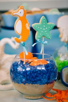 Festa Infantil de Meninos | Céu e Fundo do Mar - Vestida de Mãe Boys 1st Birthday Party Ideas, 1st Boy Birthday, First Birthday Parties, First Birthdays, Ocean Party, Under The Sea Party, Boy Decor, Baby Shark, Baby Party