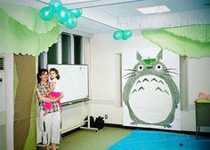 totoro 3rd birthday party decoration by imtopsyturvy.com, via Flickr