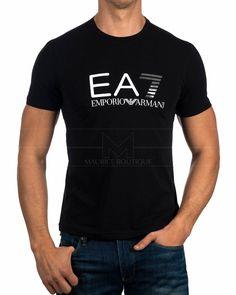 Camiseta Emporio Armani EA7 ® Negro - New Logo   ENVIO GRATIS