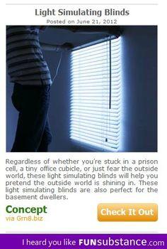 Light simulating blinds