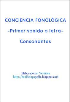 1. Conciencia Fonológica. Primer sonido o letra. Consonantes.   Scribd