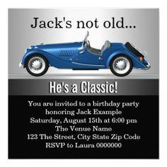 Retirement Party Invitation Hot Rod Mechanic Classic