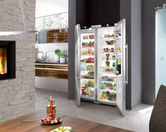 Modern Kitchen Ideas With Outstanding Liebherr Refrigerator: Liebherr Refrigerator With Liebherr Wine Refrigerator And Tall Skinny Fridge Freezer For Your Kitchen Ideas
