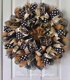 UCF Deco Mesh Wreath by MrsLanderBoutique on Etsy