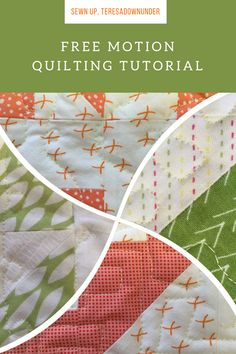 This tutorial goes only for over 2 minutes but it teaches you the basics of free motion quilting. It also suggests some easy free motion patterns to start with. How to dofree motion quilting video…