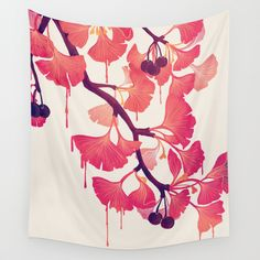 O+Ginkgo+Wall+Tapestry+by+Littleclyde+-+$39.00
