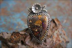 Boulder Opal set in Sterling Silver Ring Size by RoseMetalsJewelry, $205.00