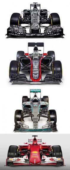 2015 Cars from Red Bull, McLaren, Mercedes-Benz & Ferrari