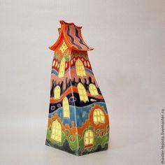 """Купить Подсвечник-домик """"Долговязый Джо"""" - керамика ручной работы, подсвечник, ночник, домик"""
