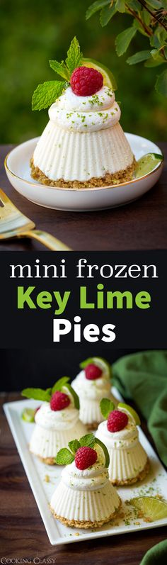 Mini Frozen Key Lime Pies - Cooking Classy
