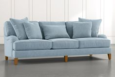 Cozy-up your home with farmhouse-fresh sofas. American Farmhouse Style has top ten picks for you! Living Room Decor, Living Spaces, Living Rooms, Pastel Home Decor, Rustic Sofa, Blue Couches, Beautiful Sofas, Classic Living Room, Fabric Sofa