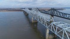 Mississippi River at Vicksburg, MS http://tampaaerialmedia.com/