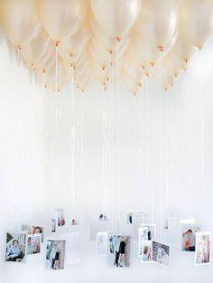 Balloon Chandelier 30th Birthday Idea