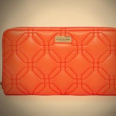 SALE NEW Kate Spade Wallet Bright Orange/Coral New without tags. Bright gorgeous tangerine orange-coral color! Quilted leather is soft - style is Astor Court. Zip around with multiple pockets. Bright gold tone hardware. PLEASE ASK QUESTIONS BEFORE PURCHASING! NO TRADE/PAYPAL Thank You! ❤️ kate spade Bags Wallets