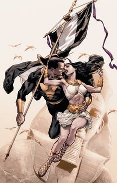 Isis and Black Adam by J.G. Jones Dwayne John has confirmed he is playing Black Adam in a future DC film!