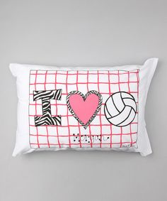 Take a look at this I Love Volleyball Personalized Standard Pillowcase by Bunnies and Bows on #zulily today!