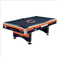 #Chicago #Bears Pool Table- I'm love to play pool table at the game room and I'm love to get the Chicago Bears Pool Table it's my Birthday Gift or Christmas Gift. Let's go Bears !