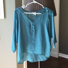 Urban Outfitters Sheer Blue Top See through urban outfitters top Tops Blouses