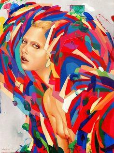 Erik Jones художник и иллюстратор, гармонично сочетающий в своих полотнах мягкие и жесткие цветовые палитры.