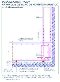 Resultado de imagen para detalles constructivo  losa de cimentacion