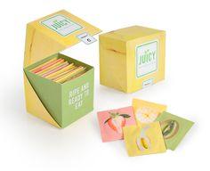 Condom packaging. Product packaging. Fruit packaging. Dieline
