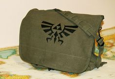 Zelda  Military Messenger Bag by ParamountPacific on Etsy, $45.00