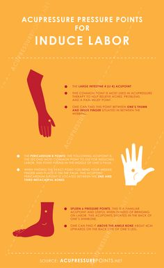 Acupressure Pregnancy Acupressure Points to Induce Labor Infographic Acupressure Therapy, Acupressure Points, Acupressure Treatment, Acupuncture Points, Natural Labour Induction, Labor Induction, Prenatal Massage, Prepare For Labor, Pregnancy Tips