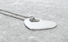 Silver Heart Necklace in Sterling $55