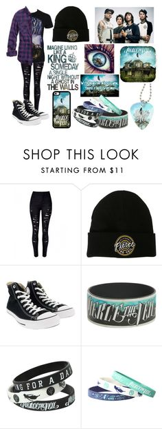 """collide with the sky. PTV"" by musiclover135 ❤ liked on Polyvore featuring WithChic, Converse, music, emo, bands, ptv and piercetheveil"