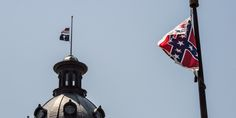 OUTRAGE: Sniper Shoots Down Confederate Flag At S.C. Statehouse Confederate Flag  #ConfederateFlag